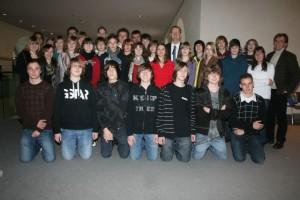 Schülergruppe des Gymnasiums Bergkamen im Bundestag