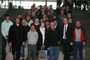 Schülergruppe des Hellweg-Berufskollegs im Bundestag
