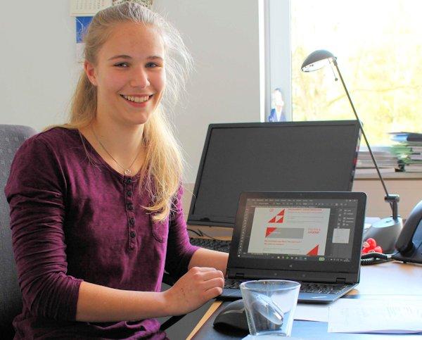 Janna Prünte im Wahlkreisbüro