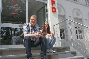Oliver und PPP-Kandidatin Jana Lanfermann