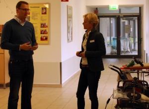 Praxistag Lebenszentrumm Königsborn am 22.10.14, im Gespräch mit Dr. Karin Hameister, Chefärztin der Kinderklinik