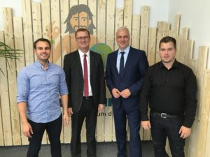 v.l.n.r. Daniel Marx, Oliver Kaczmarek, Garrelt Duin, Daniel Krahn